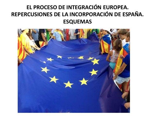 EL PROCESO DE INTEGRACIÓN EUROPEA.REPERCUSIONES DE LA INCORPORACIÓN DE ESPAÑA.                  ESQUEMAS
