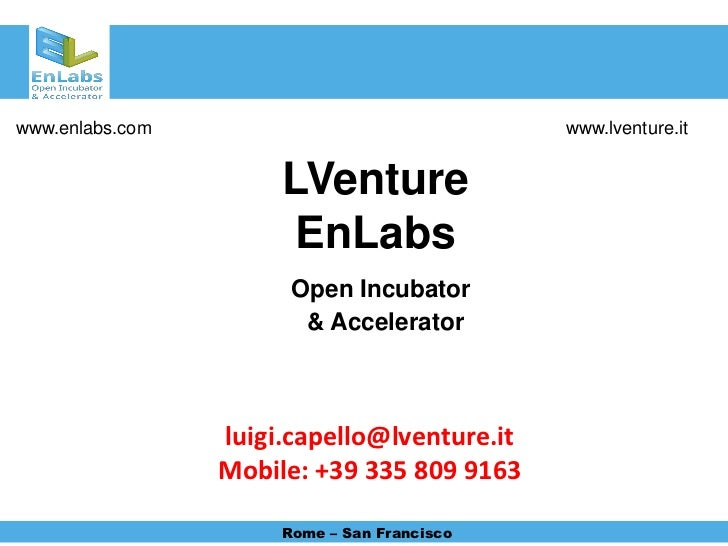 www.enlabs.com                               www.lventure.it                      LVenture                       EnLabs   ...