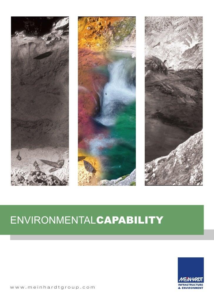 environmentALCAPABILITY     w w w. m e i n h a rd t g ro u p . c o m