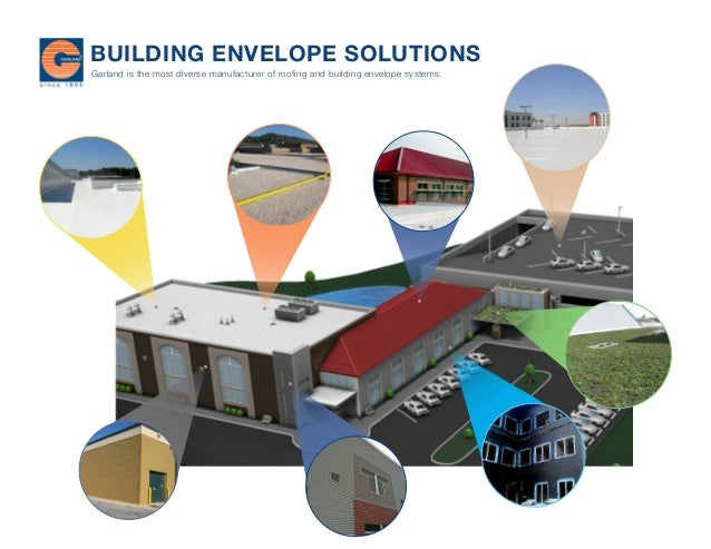 BUILDING ENVELOPE SOLUTIONS Garland is the most diverse manufacturer of roofing and building envelope systems.