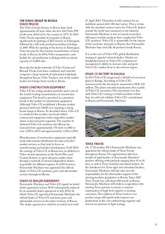 Ferronordic Machines AB Annual Report 2014