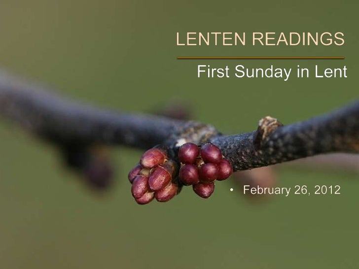 The Common English Bible - 1st Sunday in Lent