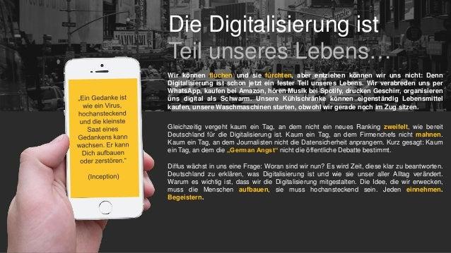 Die Digitalisierung ist Teil unseres Lebens… Wir können fluchen und sie fürchten, aber entziehen können wir uns nicht: Den...