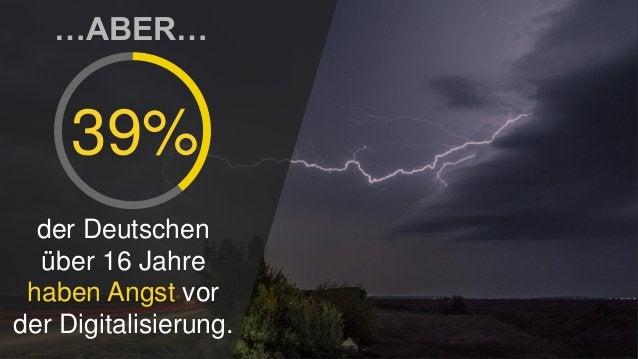 …ABER… 39% der Deutschen über 16 Jahre haben Angst vor der Digitalisierung.
