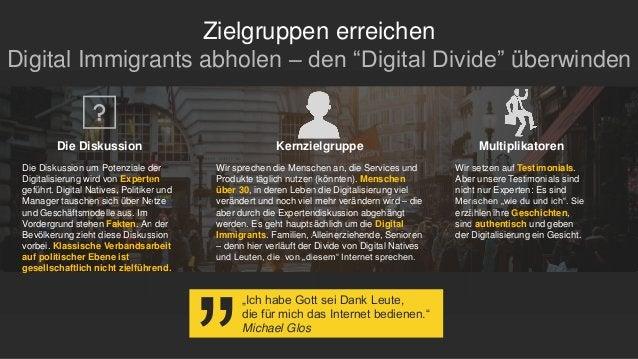 """Zielgruppen erreichen Digital Immigrants abholen – den """"Digital Divide"""" überwinden Die Diskussion um Potenziale der Digita..."""