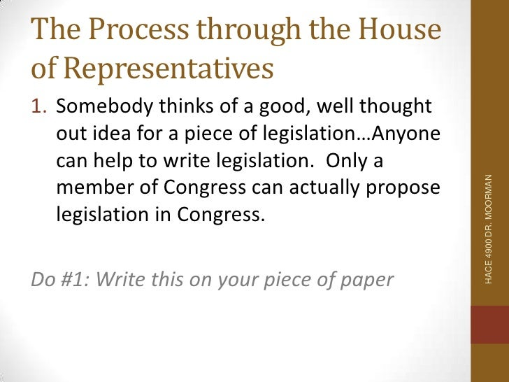 how to write a bill for congress