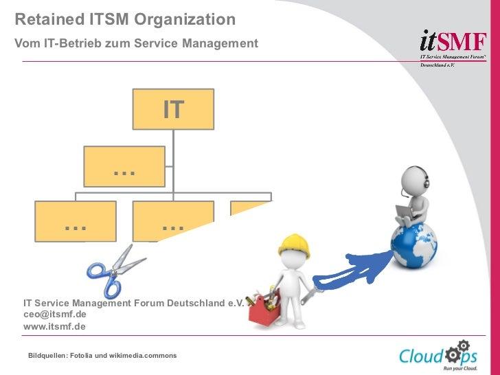 Retained ITSM OrganizationVom IT-Betrieb zum Service Management                                       IT                  ...
