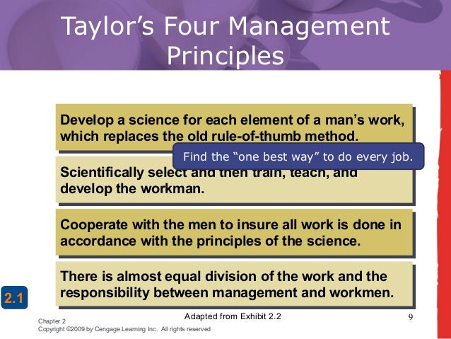 chapter 2 management Managers make today is failing to adapt to the changing world no successful organization, or its managers, can operate.