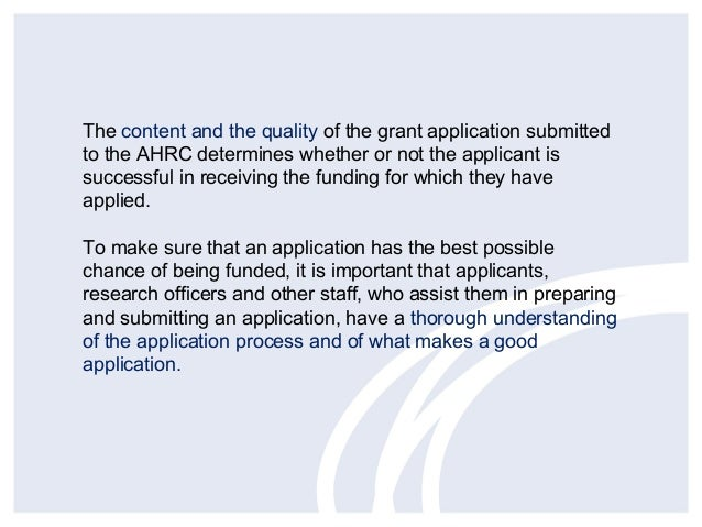How to write a good grant application – Grant Application