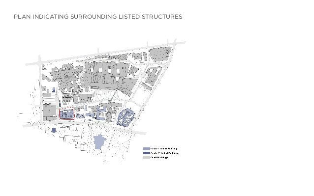 PLAN INDICATING SURROUNDING LISTED STRUCTURES