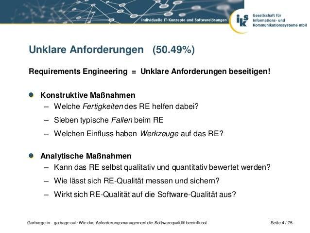 Mehr Softwarequalität: Requirements Engineering Slide 3