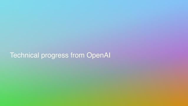 Technical progress from OpenAI