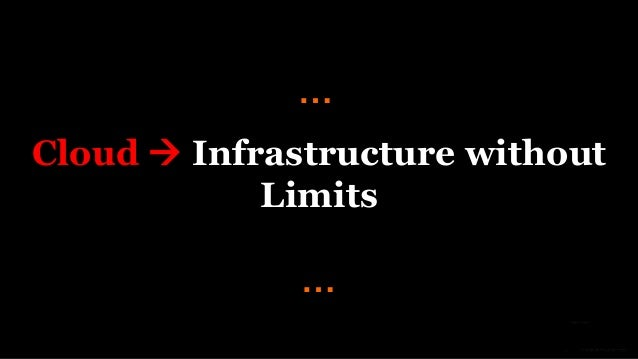 Cloud  Infrastructure without Limits … …