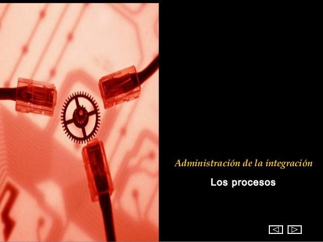 Administración de la integración        Los procesos