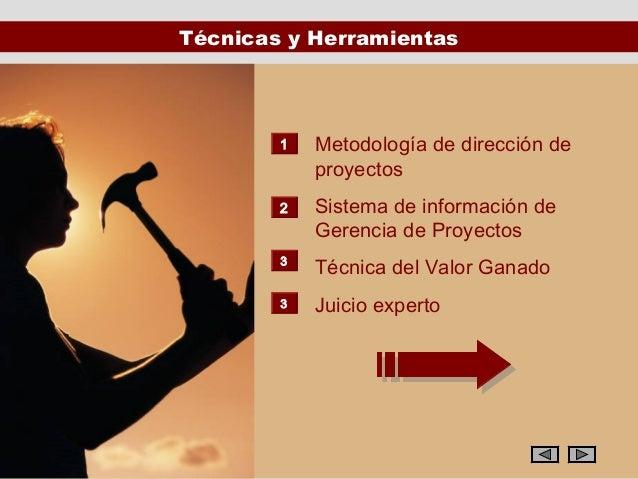 Técnicas y Herramientas        1   Metodología de dirección de            proyectos        2   Sistema de información de  ...