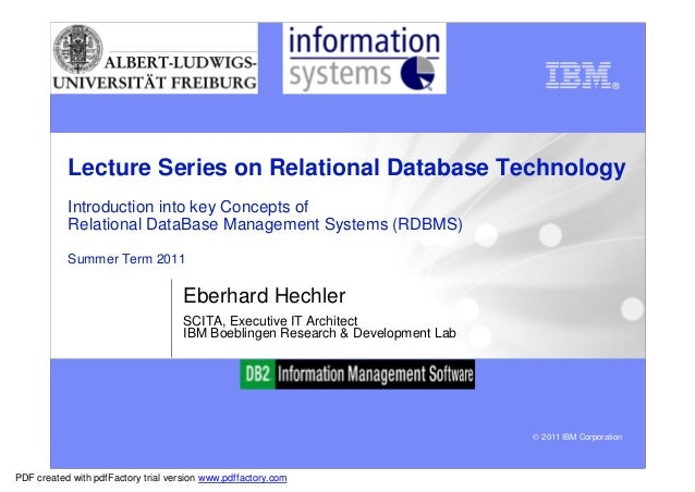 Department of WI                                                          Information Systems           Lecture Series on ...
