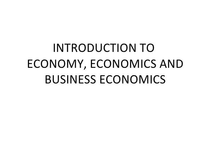 Business Economics 02 Introduction to Business Economics