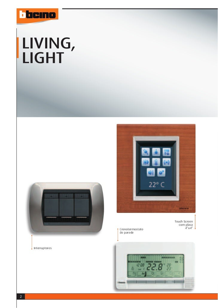 LIVING,    LIGHT                                       Touch Screen                                          com placa    ...