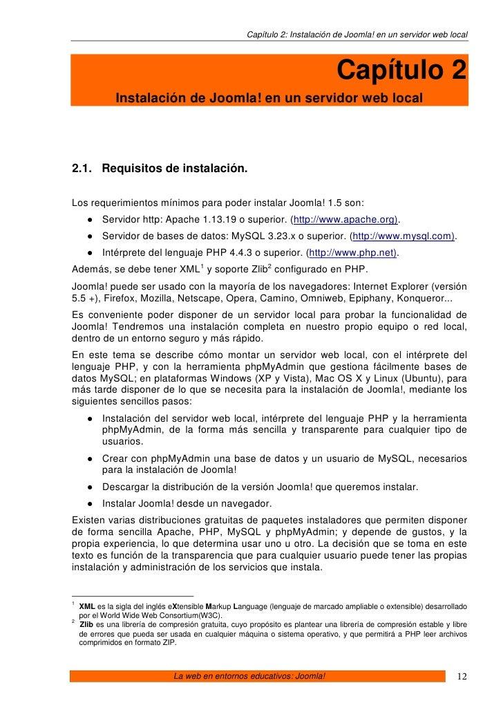 Capítulo 2: Instalación de Joomla! en un servidor web local                                                               ...