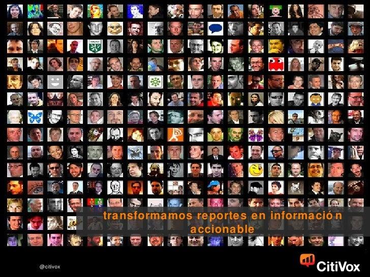 transformamos reportes en información accionable