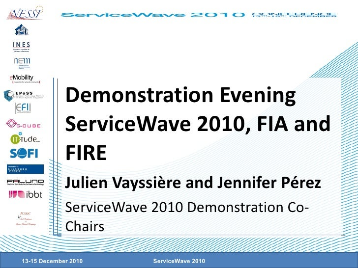 Demonstration Evening ServiceWave 2010, FIA and FIRE