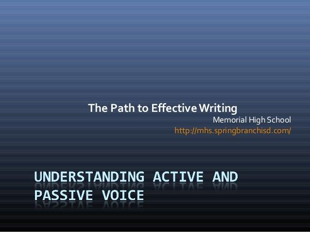 The Path to EffectiveWriting Memorial High School http://mhs.springbranchisd.com/