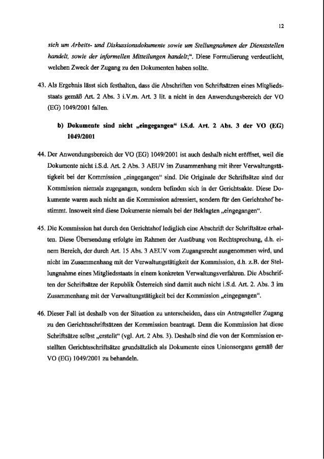 12 sichum Arbetts-und Diskussionsdokumen/e row/eum Stelluugnahmen der Dienrtstellen handelt,sow/eder informelleu Mitteilun...