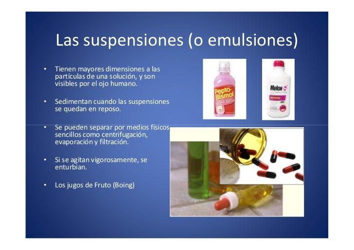 Suspensiones y emulsiones