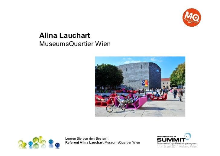 Alina LauchartMuseumsQuartier Wien       Lernen Sie von den Besten!       Referent Alina Lauchart MuseumsQuartier Wien