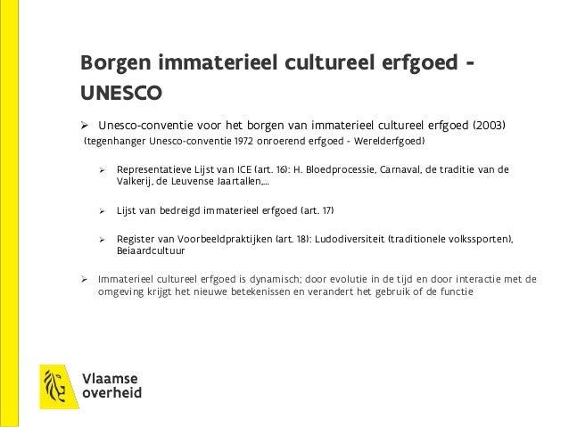 5. Recente ontwikkelingen Conceptnota 'Naar een duurzame cultureel-erfgoedwerking in Vlaanderen' (maart 2016)