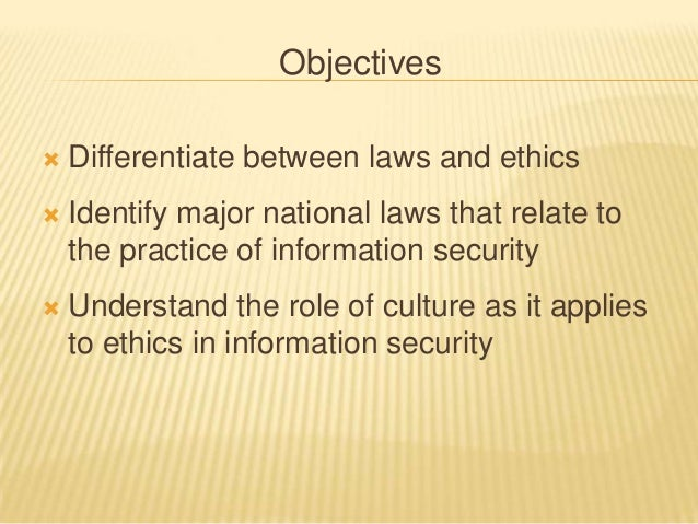 ethics and information security essay Ethics in information technology essay  we begin exploring some of the ethical issues particular to information security by  ethics and information.