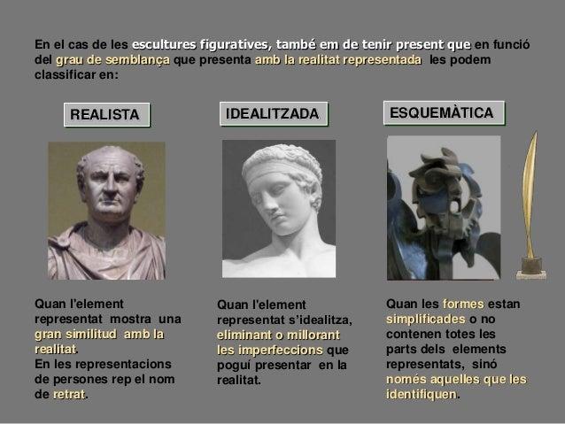 En el cas de les escultures figuratives, també em de tenir present que en funció del grau de semblança que presenta amb la...