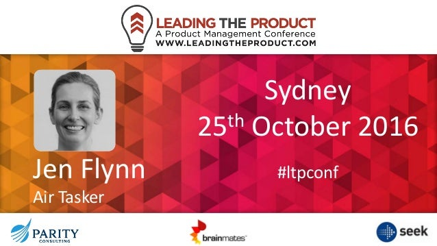 Jen Flynn Air Tasker Sydney 25th October 2016 #ltpconf