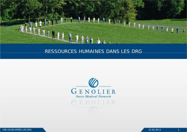 21.06.2013 1 RESSOURCES HUMAINES DANS LES DRG 500JOURS APRÈSLESDRG