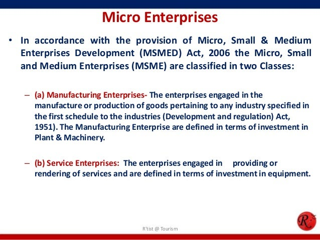 The growth of the micro enterprise