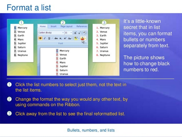 how to change bullets in word 2007