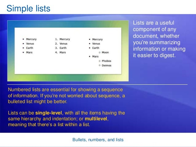 how to add bullets in ms word 2007