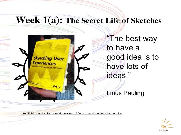 "Week 1(a): The Secret Life of Sketches                                                              ""The best way         ..."