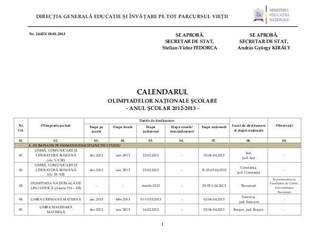 DIRECȚIA GENERALĂ EDUCAȚIE ȘI ÎNVĂȚARE PE TOT PARCURSUL VIEȚII       Nr. 26453/ 18.01.2013                                ...