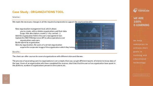 Organizations Tool - Entornos de Formación Slide 3