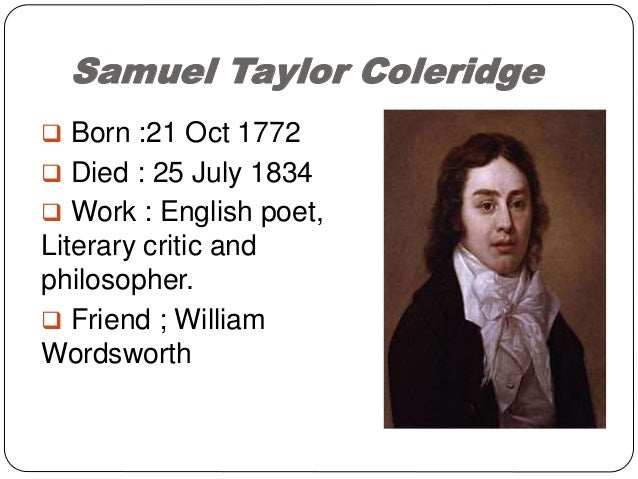 """coleridge s criticsm of poetic diction Coleridge's theory of criticism  so far as the criticism deals with wordsworth's theory of """"poetic diction,"""" it cannot but strike the reader as carping ."""