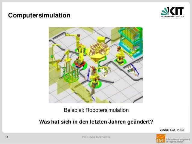 11 Prof. Jivka Ovtcharova Computersimulation Video: GM, 2003 Beispiel: Robotersimulation Was hat sich in den letzten Jahre...