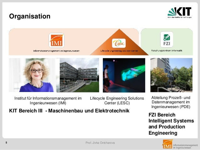 5 Prof. Jivka Ovtcharova Lifecycle Engineering Solutions Center (LESC) Abteilung Prozeß- und Datenmanagement im Ingenieurw...