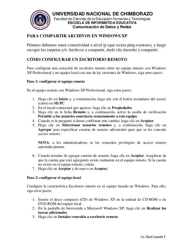 UNIVERSIDAD NACIONAL DE CHIMBORAZO Facultad de Ciencias de la Educación Humanas y Tecnologías ESCUELA DE INFORMÁTICA EDUCA...