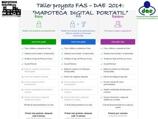 """Taller proyecto FAS – DAE 2014:  """"MAPOTECA DIGITAL PORTATIL"""""""