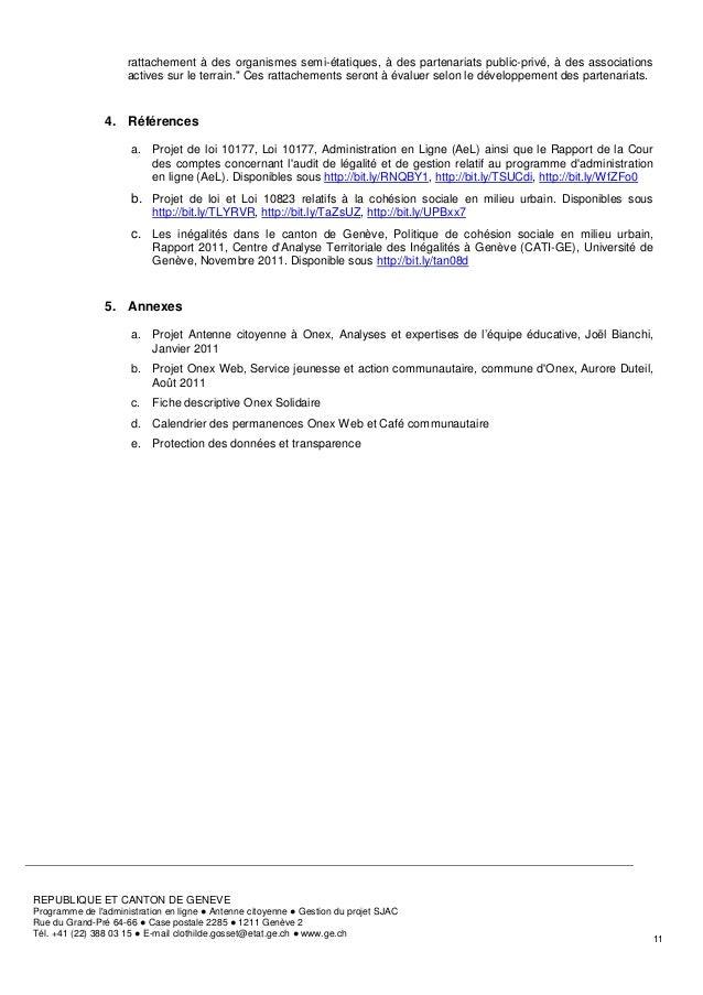 rattachement à des organismes semi-étatiques, à des partenariats public-privé, à des associations                     acti...