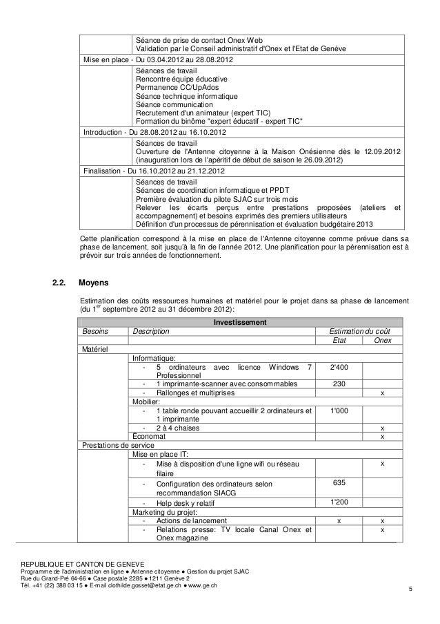 Séance de prise de contact Onex Web                                       Validation par le Conseil administratif dOnex et...