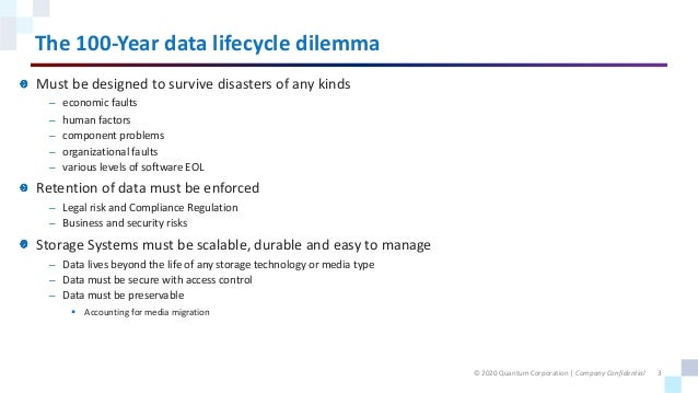 Solving the 100-Year Data Lifecycle Dilemma Slide 3