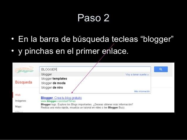 Rocío tutorial para crear un blog Slide 3