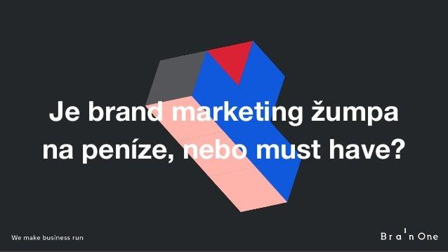 Je brand marketing žumpa na peníze, nebo must have?